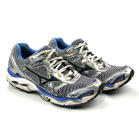 4adbd5decf147 Womens Mizuno Wave Nirvana 7 Running Silver Blue